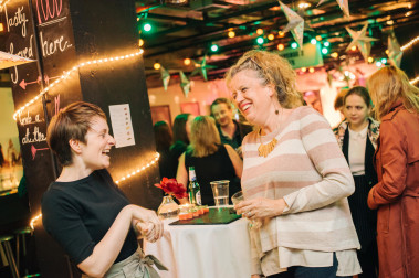 People having fun at the Festival 2017 launch, in Traverse Café Bar